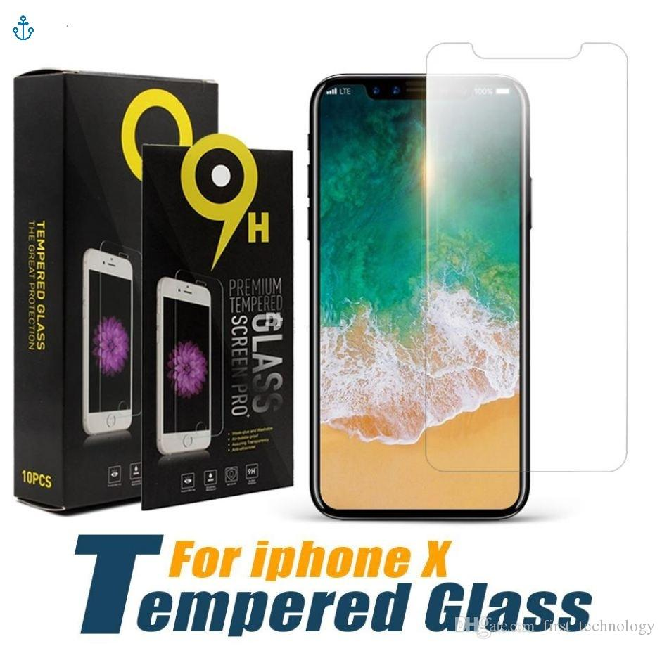 Tempered Glass For iPhone 11Pro Max 6 6s 7 8 Plus SE Screen Protective Film For iPhone X XS Max XR Glass Protector