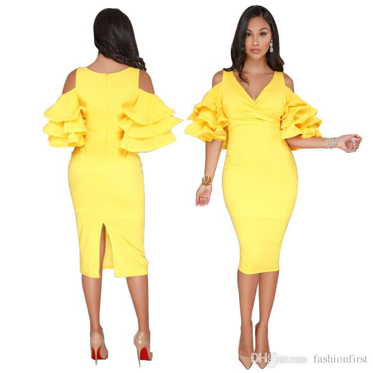 2d7d9f398b45b Sexy Soft Dress Short Midi Summer Casual Business Cold Shoulder ...
