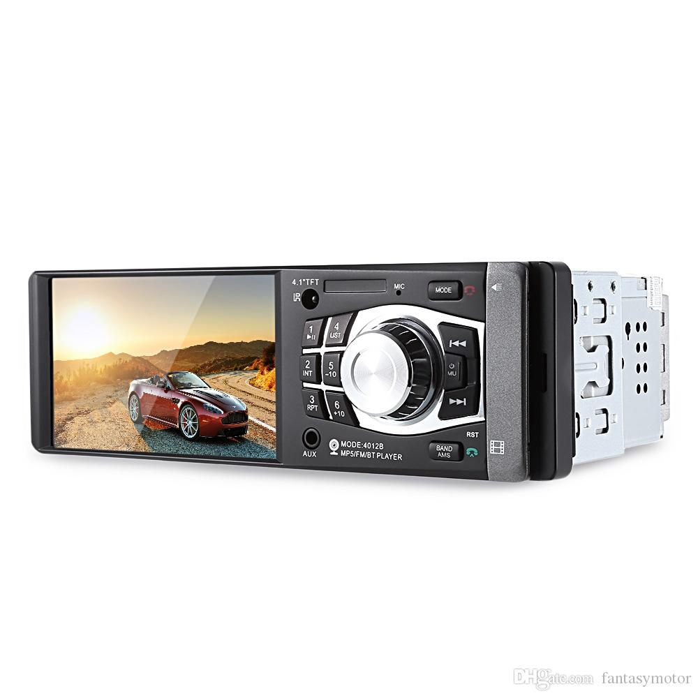 Radio Car MP4 MP5 Player 1 Din 4.1 Inch Video Player With Rearview Camera Bluetooth Remote Control Stereo AUX FM USB TF For Cars +B