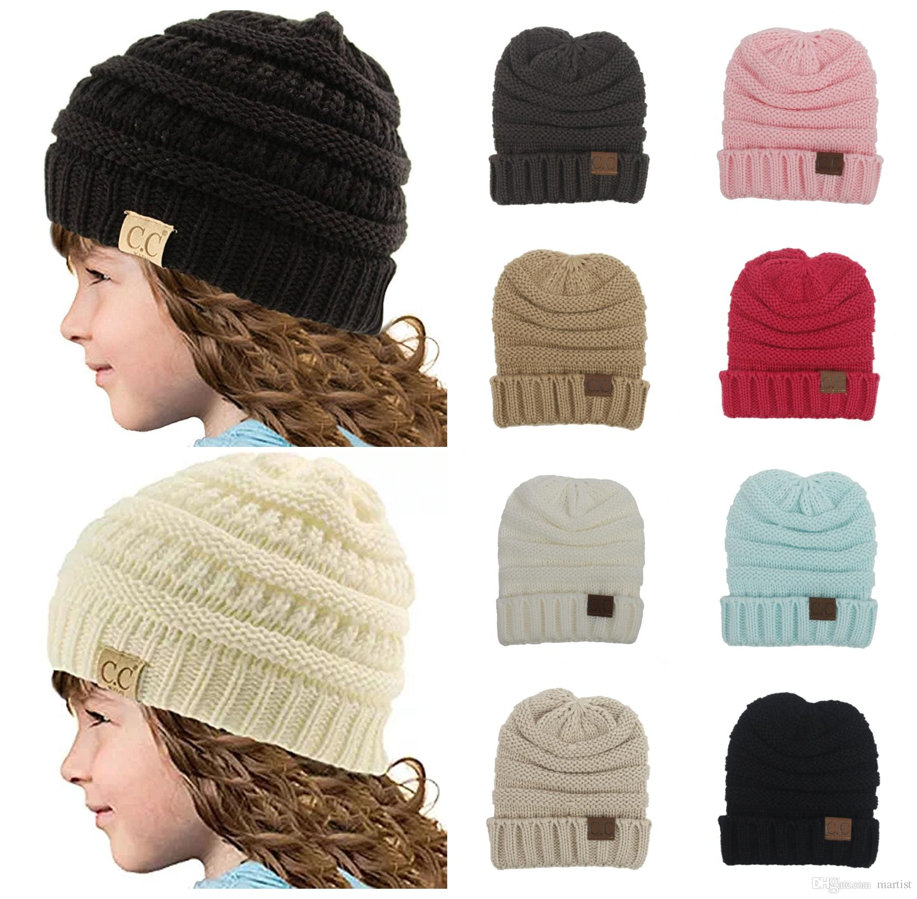 Compre Brief Cc Baby Beanie es Sombreros Winter Warm Headware Recién ...