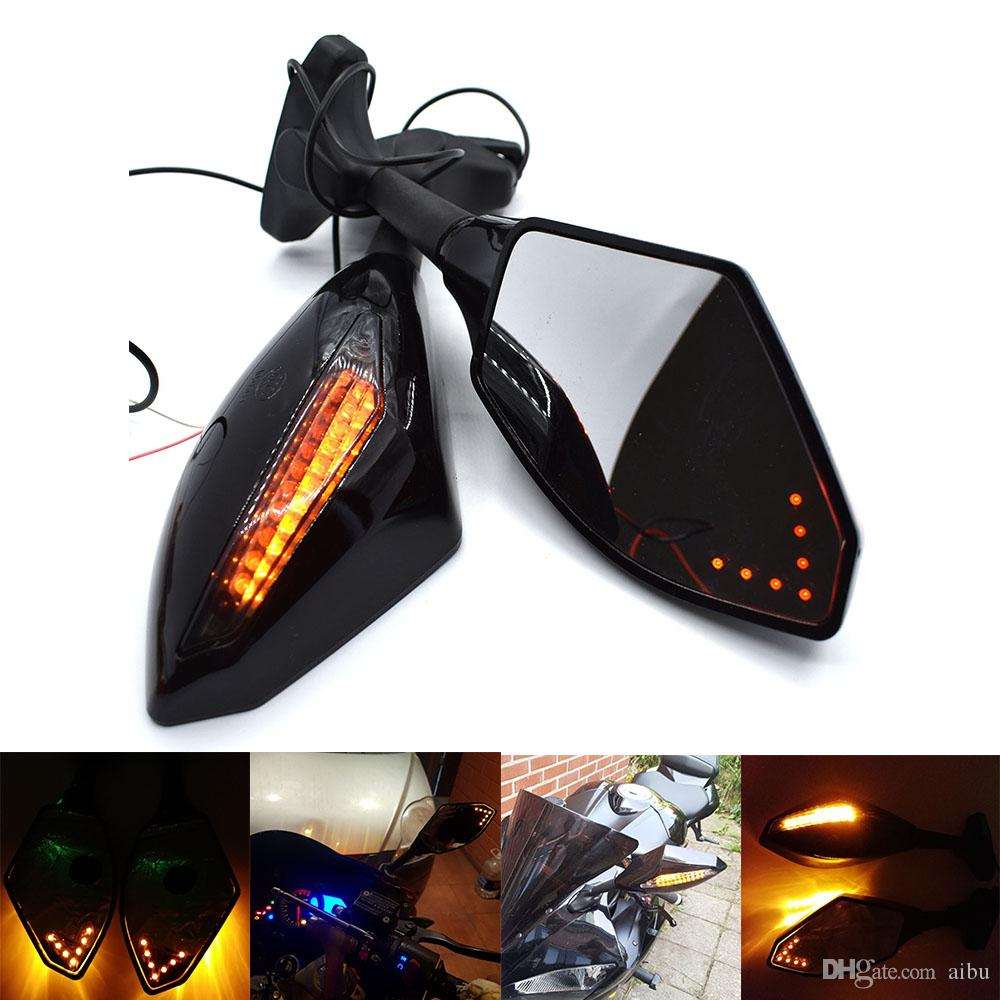 For 3 Blue Arrow Point LED Motorcycle LED Flashing Flashing Brilliant Fixed Mirrors For HONDA VFR 800 400 RVF RC51
