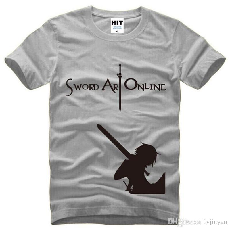 Schwert Art Online SAO COS Gedruckt T-shirt Männer Sommer Kurzarm Oansatz Baumwolle männer T-shirt T-shirt Homme Anime Fans Kleidung