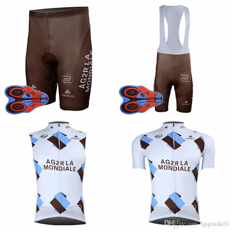 c3f08f31e 2018 Full Selling AG2R Team Cycling Short Sleeves Jersey Bib Shorts  Sleeveless Vest Sets Bicycle Jersey Sports Cycling Outdoor Breathable Cycling  Wear ...