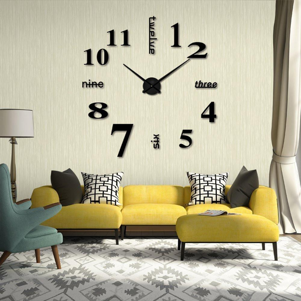 42388fc1c66 Compre 4 Cores Estilo Moderno 3D Espelho Decorativo Acrílico Relógio De  Parede Decoração Sala De Estar Rodada Adesivos Relógio Relógios Decor R3 De  Baibuju8 ...