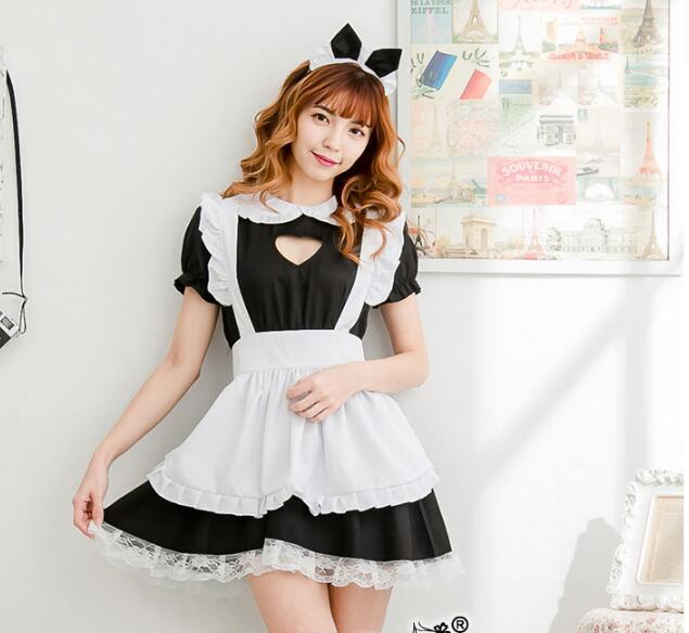 05a71bc0877616 2019 New Sexy Sweet Lolita Dress Maid Costume Anime Cosplay Maid Uniform  Plus Halloween Costumes For Women From Hiem, $25.25 | DHgate.Com