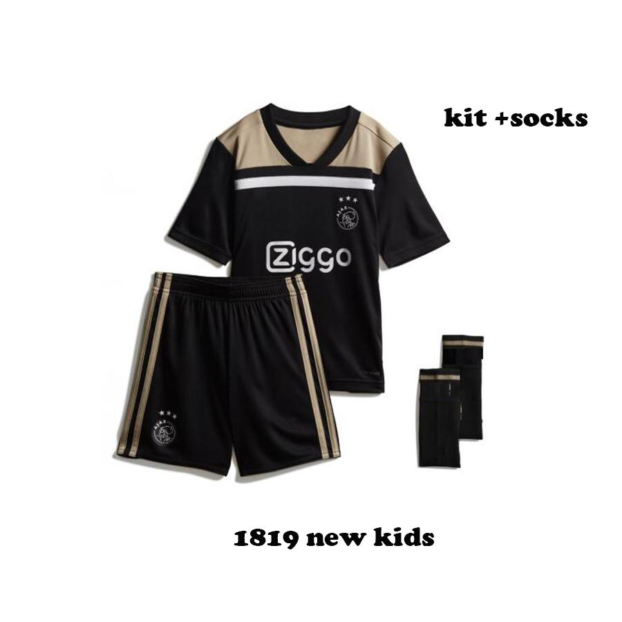 c75567dc9 Best Best Quality New Ajax 2018 Kids Child Soccer Jersey 18 19 Ajax Away  Soccer Shirt 2019 Customized  10 Klaassen  34 Nouri Football Uniform Under   16.09 .