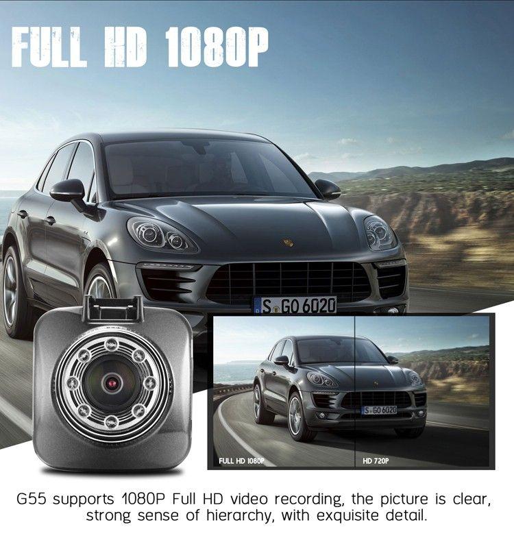 Azdome G55 voiture DVR Novatek 96650 Full HD 1080p 30fps 170 degrés 2,0