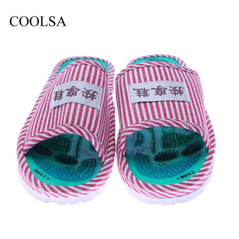 5b491685c COOLSA Women S Taichi Acupuncture Magnet Massage Slippers Red Stripe Slippers  Women S Massage Flip Flops Slippers Wholesale Cheap Boots High Heel Shoes  From ...