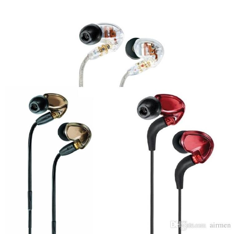 Shure SE535 en la oreja HIFI Auriculares con cancelación de ruido Auriculares manos libres con paquete al por menor LOGO Bronce envío gratis