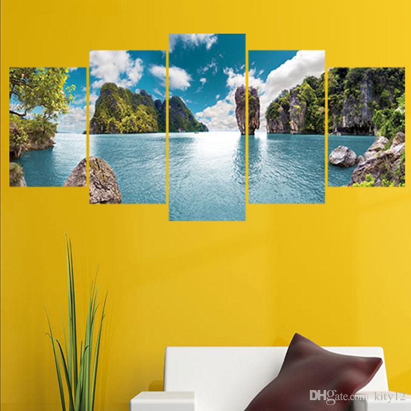 3D Съемные стикеры стены Blue Sky Mountain View Декорация Home Decor Декаль Креативные обои Бесплатная доставка