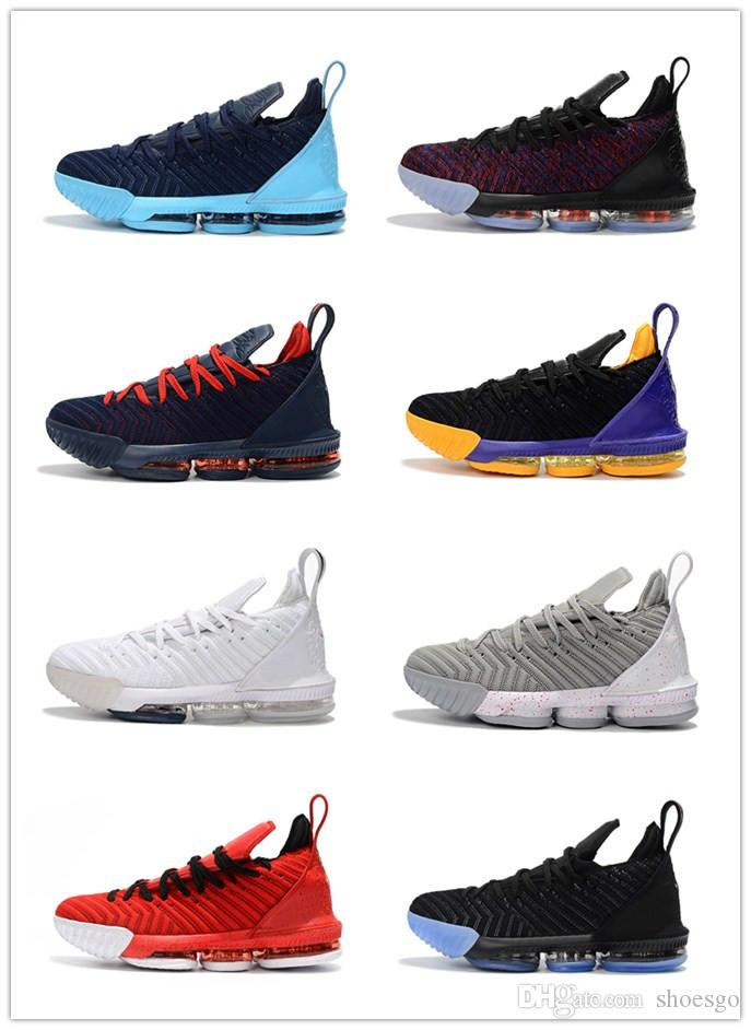 ac729148b078 ... authentic 2018 high quality lebron 16 black white gold bhm basketball  shoes xvi 16s running shoes