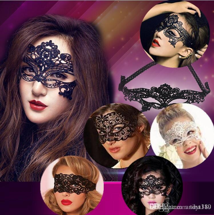New Fashion Lovely Lace Halloween Masquerade Venetian Party Half Face Mask  Lily Woman Lady Sexy Mask For Christmas Disco A0185 Mens Masquerade Ball  Mask ...