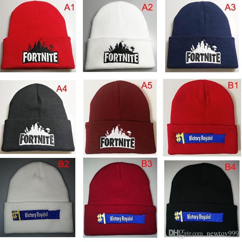 9 Styles Fortnite   1 Victory Royale! Cappello Cappelli Berretti Berretti  Cappellino Hip-Hop Ricamo Cappelli Costume Inverno Caldo Cappelli Regali di  Natale 9138f4031dd5