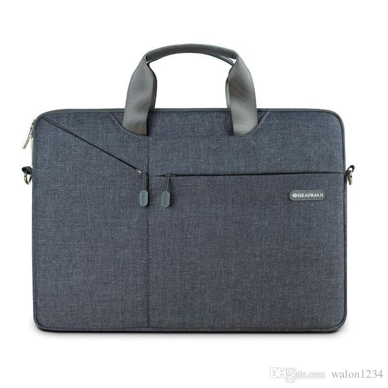 Fashion New Business Laptop Bag 11 '13' 15 'Laptop Custodia Notebook computer grigio spedizione gratuita