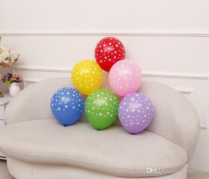 Star Printed Balloon Latex Balloons Wedding Decorations Supplies Baby Shower Party Multi Colors 12 In Birthday Themes Wall Decoration From
