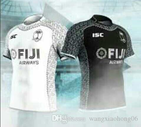 efbf6f58d15 2018 Fiji Home White Rugby Jersey NEW 2017-2018 Fiji RUGBY Jersey 16 ...