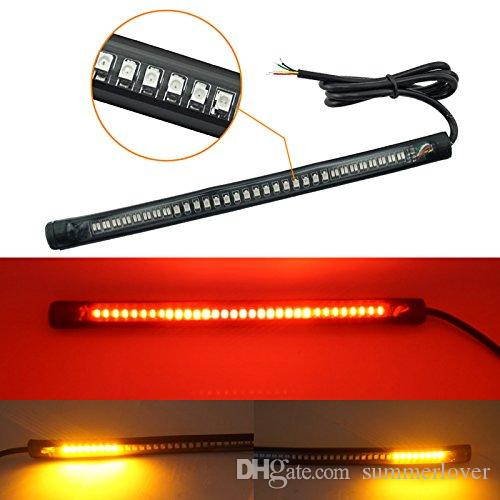 Motorcycle led tail lights strip 3rd brake stop turn signals 48 bulbs 3528 smd 8 flexible plate licenses for harley davidson atvs scooter motorcycle led tail lights strip 3rd brake stop turn signals 48 bulbs 3528 smd 8 flexible plate licenses for harley d Gallery