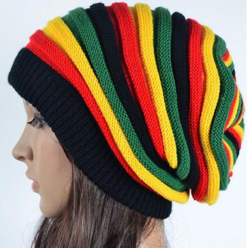 9fa86d30b176a Jamaica Reggae Gorro Rasta Style Cappello Hip Pop Men s Winter Hats Female  Red Yellow Green Black Fall Fashion Women s Knit Cap Beanie Hats For Men  Black ...