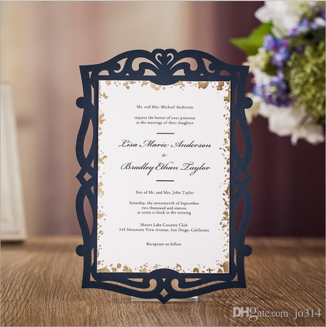 2018 New Wedding Card Invation Card Royal Ceremony Supplies Dark