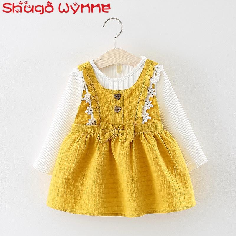2019 Baby Girls Cotton Ruffles Lace Bow Sundress + Blouse Princess Party  Kids Pleated Infant Two Pieces Cute Tutu Dress Vestidos From Vanilla14 2bc40706cf9b