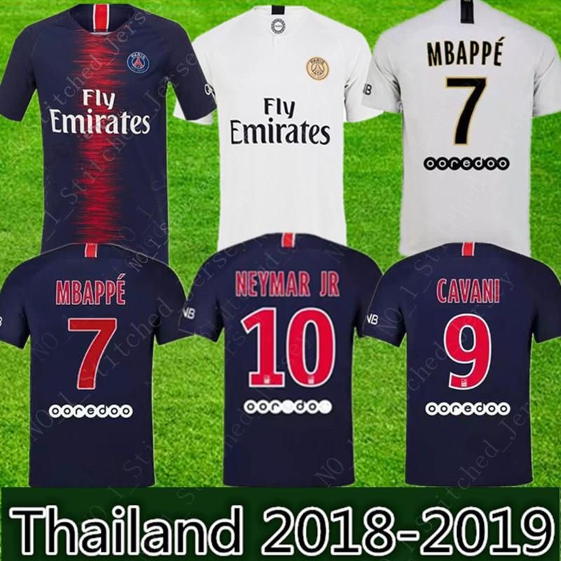 cbdf6d98ff1 2019 Thailand Maillots PSG Soccer Jersey 2019 Paris MBAPPE Saint Germain  NEYMA JR Cavani Survetement Football KID Kit Shirt Wome Man From Zxcv666