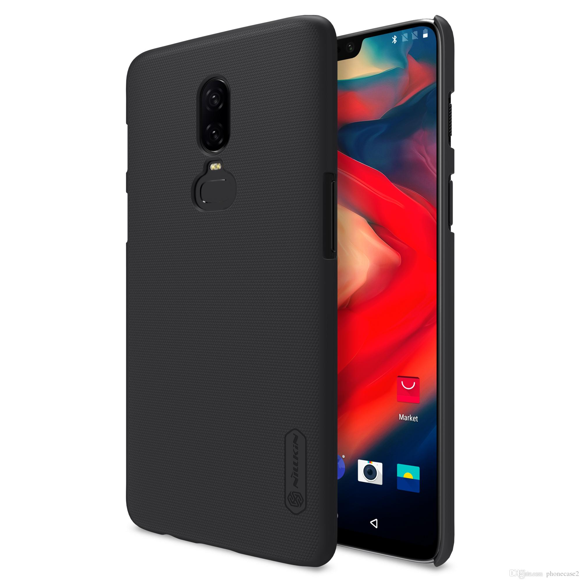 100% authentic d2ce0 1686d Oneplus 6 case One plus 6 Cover NILLKIN Super Frosted Shield hard back  cover case oneplus6 gift screen protector