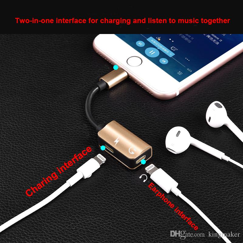 Hot Sale USB iPhone Charger Cable USB Charger iphone Cable Charging Cable Two-in-one Interface Adapter for charging and listening