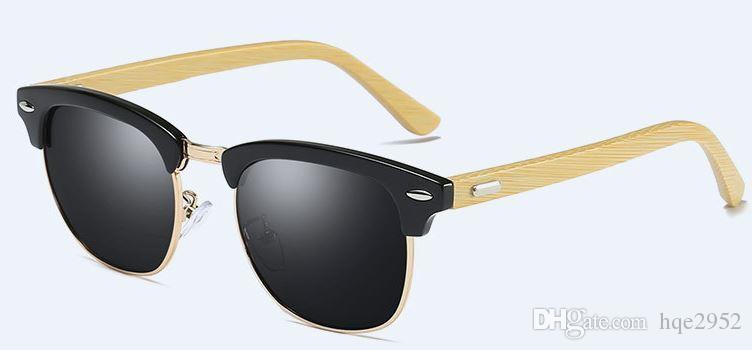 4bfaada56c Compre Bamboo Arm Woodies Zebra Wood Temple Gafas De Sol MT3016 Con Lentes  Polarizadas En Negro A $14.02 Del Hqe2952 | DHgate.Com
