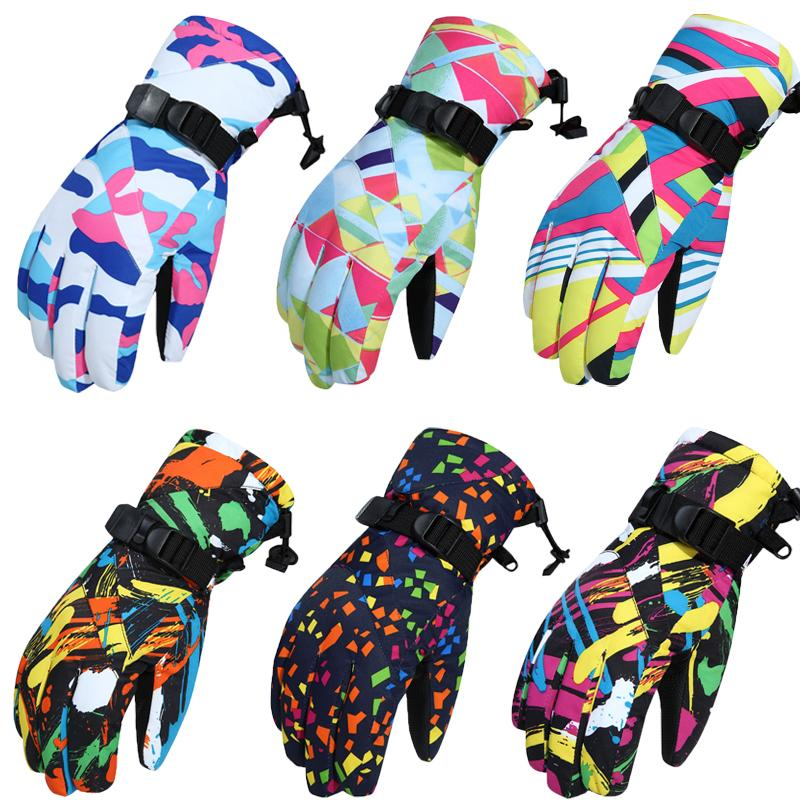 -30 Womens Snow Gloves winter outdoor sports Mitten Waterproof Windproof Bicycle Mountains Snowboarding gear ski outfits