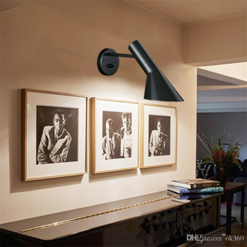 Lampes designwall design moderne arne jacobsen applique applique réplique lampe Vintage Loft louis poulsen AJ Applique blanc / noir Luminaires