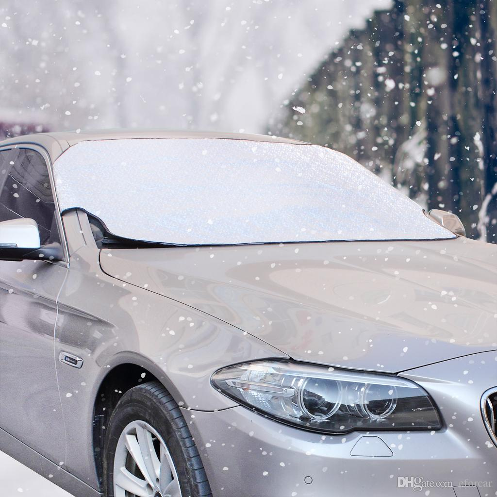 Thicker Car Front-End Rear Windshield Snow Cover Protection Sun Shade Protector Windshield Visor Sunshade UV Resistant