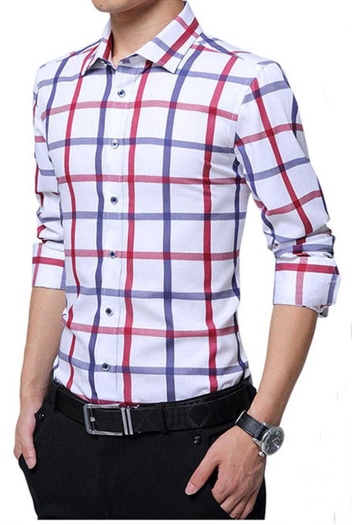 191a524ca0af 2019 QUALITY Good Men Spring Shirt Slim Fit Plaid Shirts Long Sleeve Cotton  Dress Button Casual Camiseta Masculina Checkered Shirt From Pamele, ...