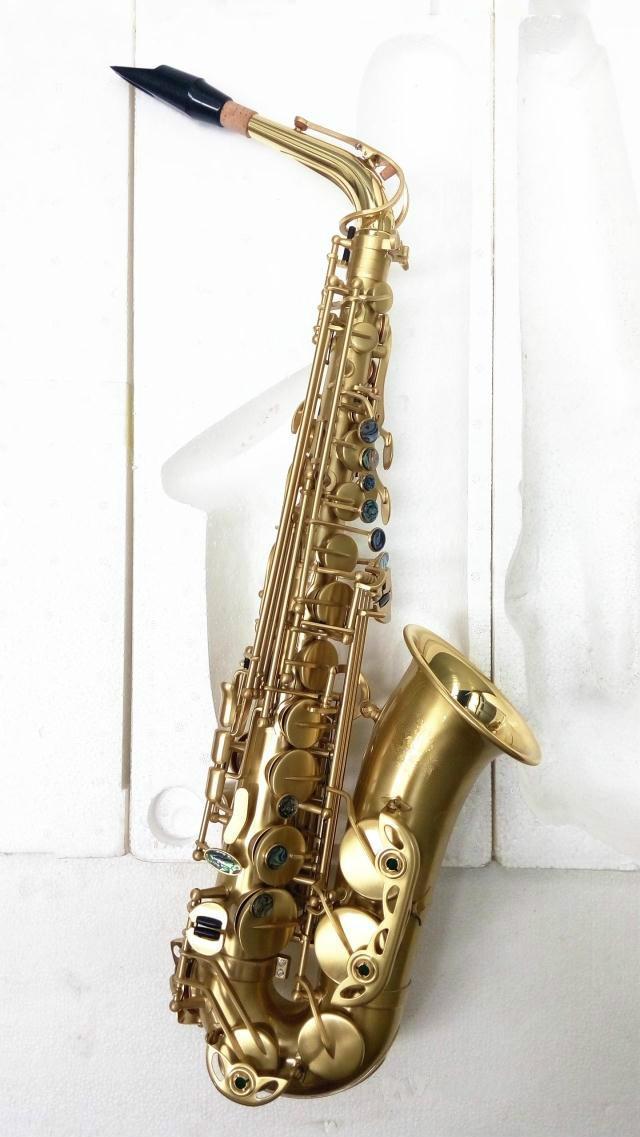 MARGEWATE إب ألتو ساكسفون الفنية آلات الموسيقى للطلاب نحاس ناعم الذهب مطلي مع القضية، لسان الحال شحن مجاني