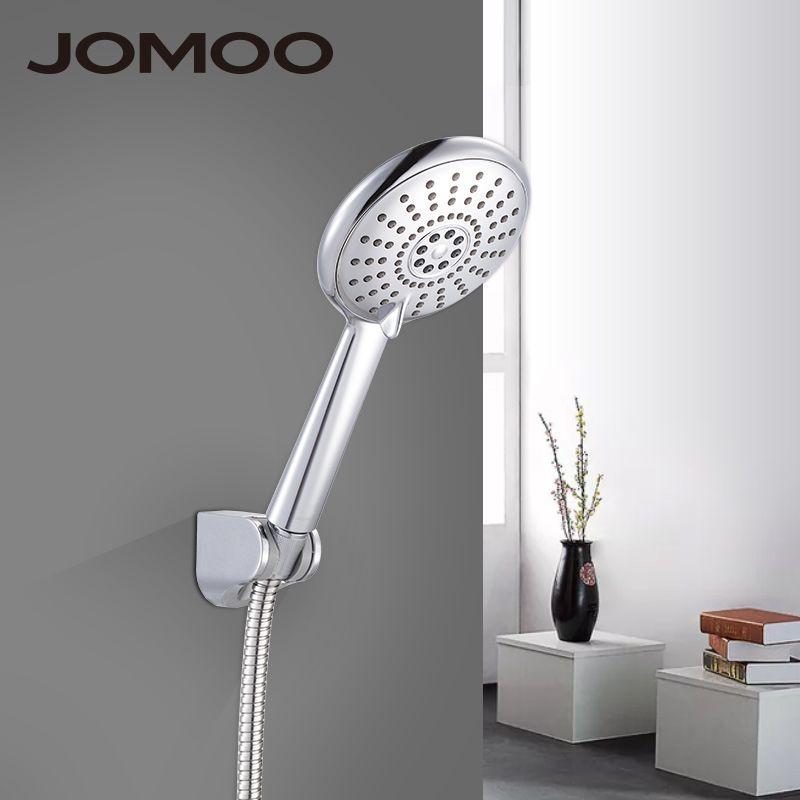 Bath Shower Head And Hose 2018 jomoo bathroom shower head set abs 5 inch 5 jet way water
