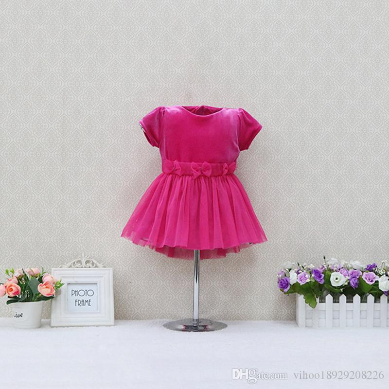 2018 childrens christmas dresses kidswear xmas party birthday skirts fashion cotton dress infant childrens wear skirt cosplay baby apparel from