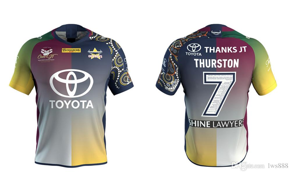 7fc4f71b0 NORTH QUEENSLAND COWBOYS 2018 THURSTON TESTIMONIAL JERSEY New Zealand NRL  Indigenous Camouflage Rugby Jerseys Sizes S-3XL 2018 CRUSADERS New Zealand  ...