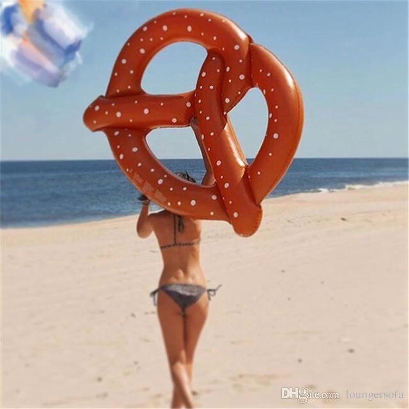 Творческий надувной хлеб круг плавает летний пляж плавательный кольцо горячей продажи бассейн коврик для воды для взрослых и детей 18xr X