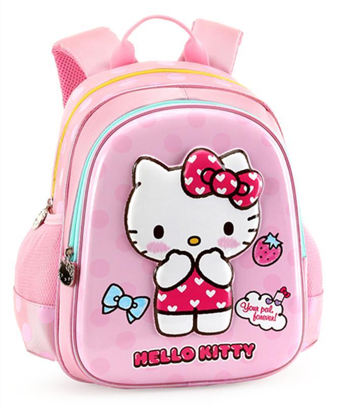 92cb98d5cb93 Cute Polka Dot Hello Kitty Bag RucksacBaby Kindergarten Preschool Backpack  Schoolbag Kids Bag Children School Bags For Girls Rucksack Bags Backpacks  For ...