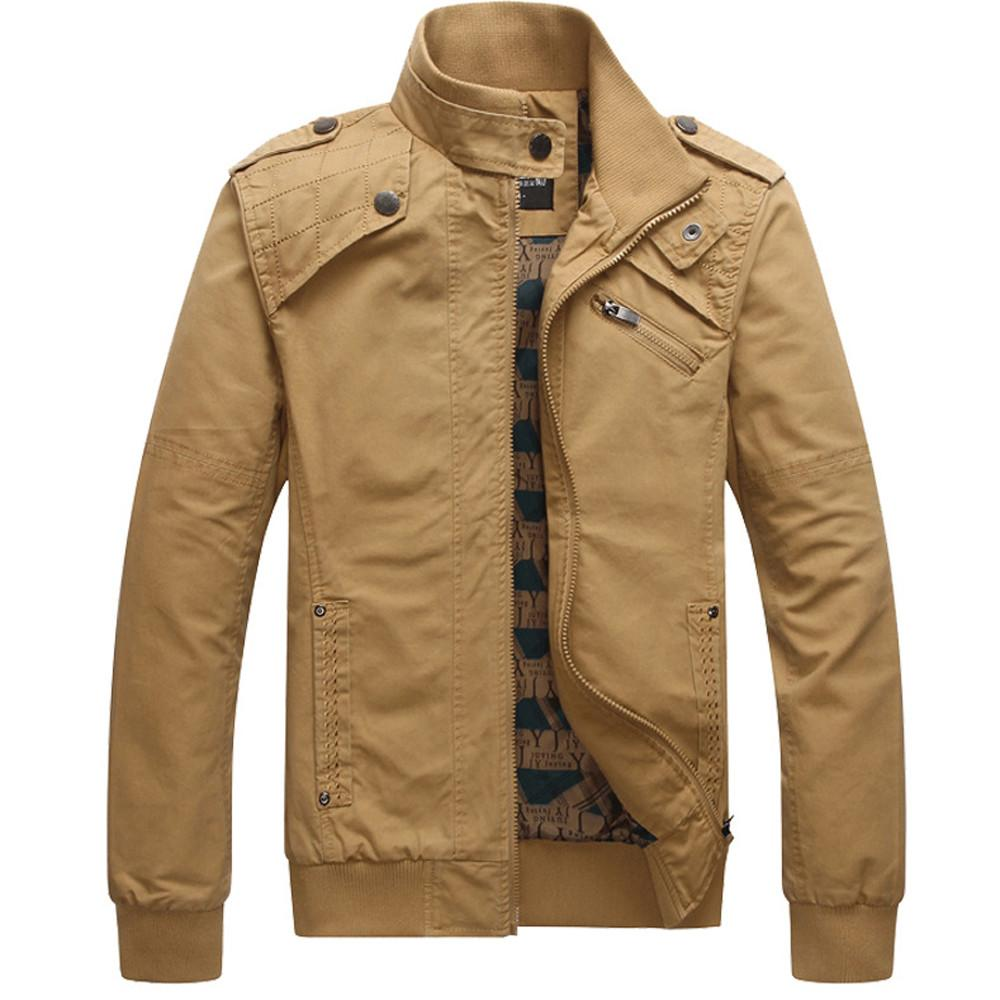 4a007e1f066 Men S Clothing Casual Pocket Jacket Stitching Slim Collar Outwear Coat  Jacket Oct.5 Carhart Jackets Motorcycle Leather Jackets From Vikey06