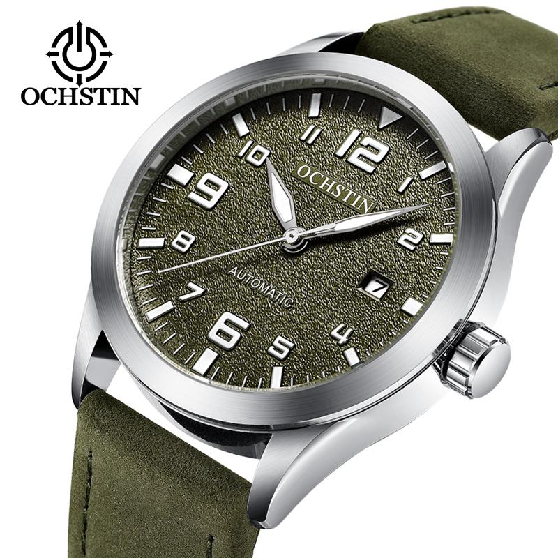 62dcb16748fc Compre OCHSTIN Marca De Moda De Lujo Deportes Relojes Mecánicos Correa De  Cuero De Los Hombres Relojes Automáticos Horloges Mannen Reloj Hombre  D18101301 A ...