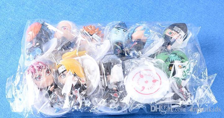 Classic Toys Anime Naruto Figure Sasuke Sakura Uchiha Madara Orochimaru Figurine PVC Japanese Action Figure 8cm