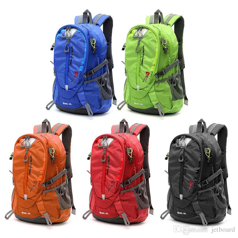 2019 40L Waterproof Nylon Backpack Sports Travel Hiking Climbing Unisex  Rucksack Mountaineering Sport Bags Cheap Hiking Backpacks From Jetboard 5c35c01638d5
