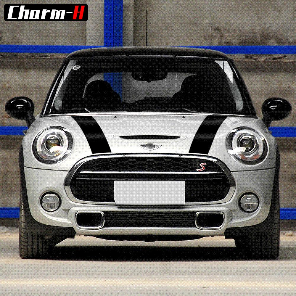 Car hood trunk Engine cover rear vinyl decal bonnet stripe stickers for mini cooper f55 2015 2016 f56 2014-2016