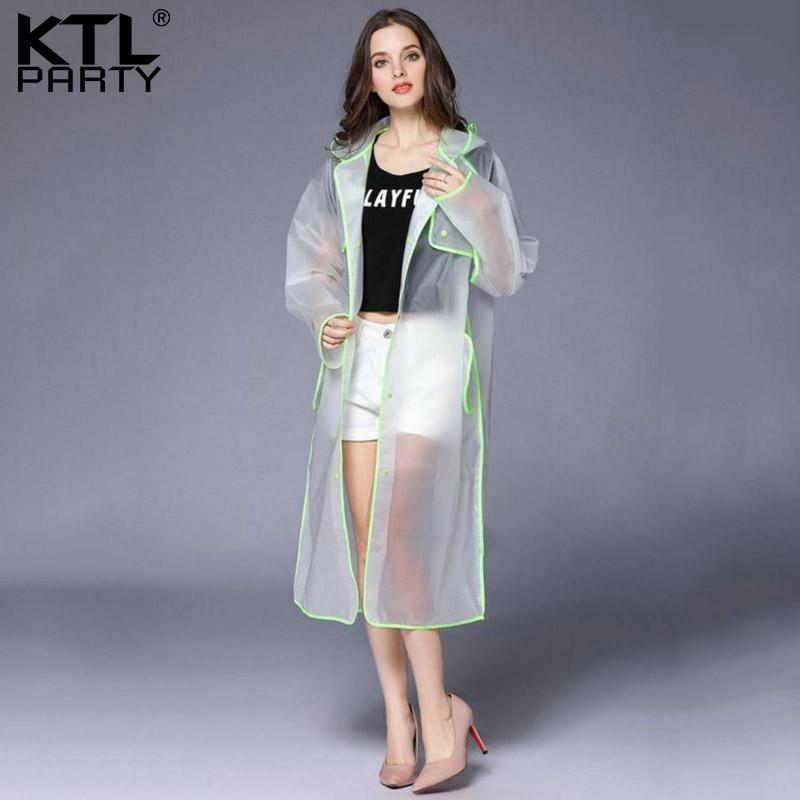 e56cbb53c66 2019 KTLPARTY Womens Transparent Raincoat Female Waterproof Rain Jacket  Outdoor Tourism Lady Rainwear Rain Suit Poncho From Serlima