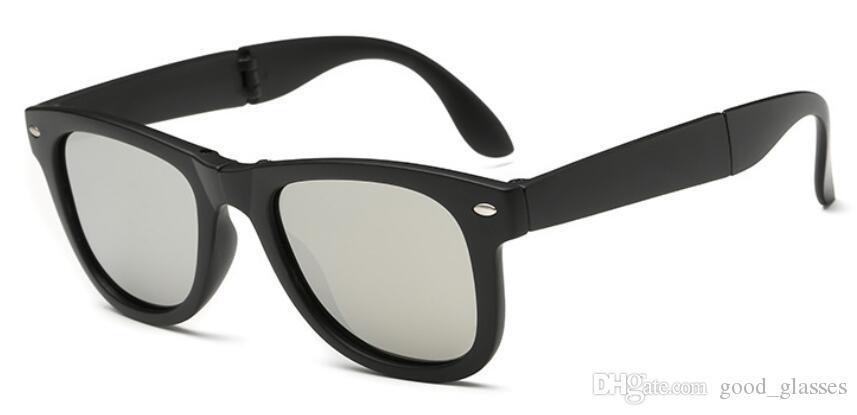 12f62bd645e Cheap Fashion Classic Sunglasses Folded Women Men Brand Design Folding Sun  Glasses Uv400 Protection Goggles Oculos De Sol with Cases