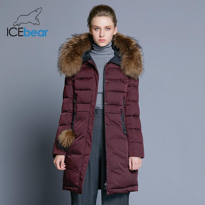 Veste Femme Acheter Hiver Et Mince Longue Manteau 2018 Icebear n11IxqF8