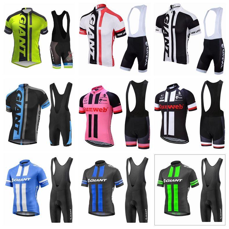 f9e63a509 Equipo Gigante Ciclismo Manga Corta Jersey Culotte Establece Top Corto  Camiseta Ciclismo Ropa Deportiva De Alta Calidad Transpirable Ciclismo  Conjunto ...
