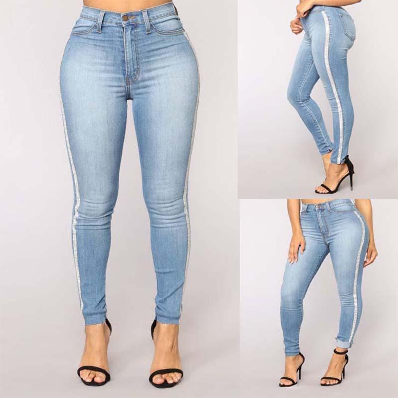 f233f64960 Compre 2018 Nuevo Solid Wash Skinny Jeans Mujer Pantalones De Mezclilla De  Invierno De Cintura Alta Tallas Grandes Empujar Hacia Arriba Pantalones  Bodycon ...