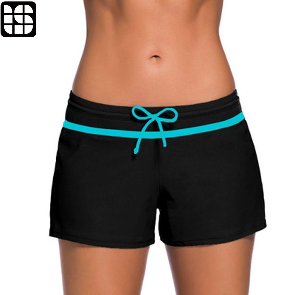 3b6bfeea27e60 2019 LISM 2018 Womens Bikini Swimwear Up Beach Shorts Tankinis Black  Swimsuit Bottom Sexy Sporty Shorts Female Swim Boardshort From Duanhu,  $29.68 | DHgate.