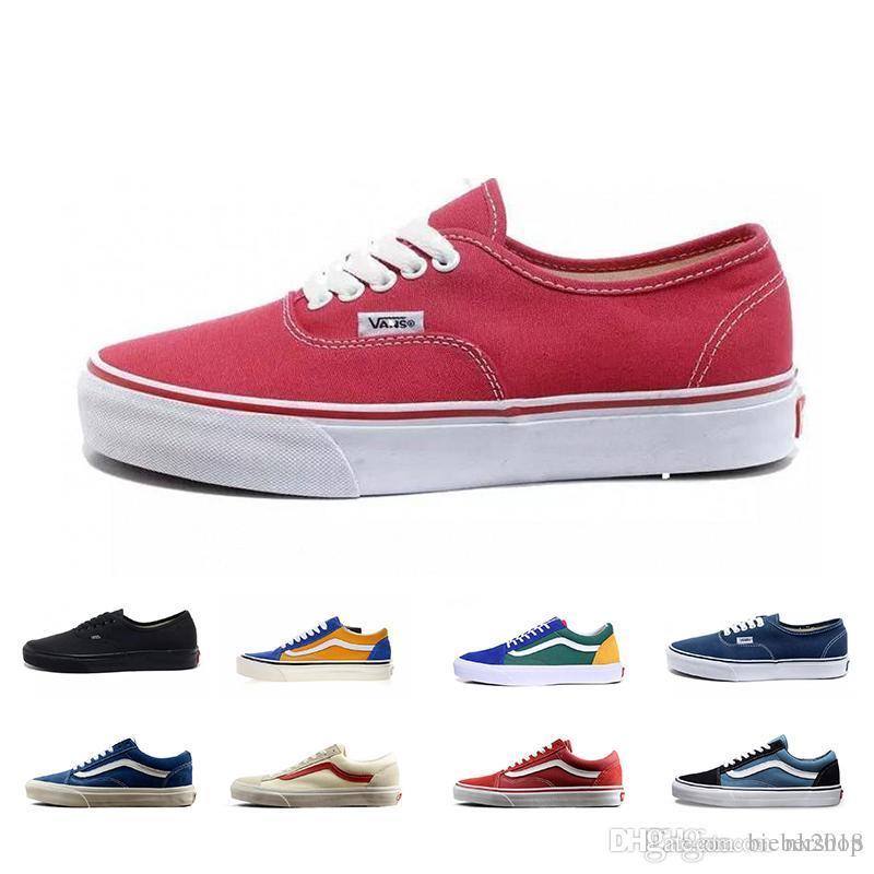 0ec295aefa 2018 Old Skool White Black Classic Zapatillas De Deporte Sneakers Women  Mens Canvas Casual Fashion Sport Designer Shoes 35-44 Online with   83.84 Piece on ...